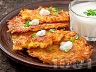 Бързи солени картофени палачинки на тиган